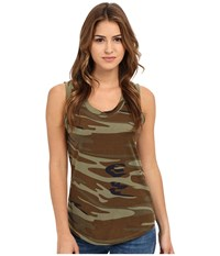 Alternative Apparel Cotton Modal Muscle Tank Top Camo Women's Sleeveless Multi