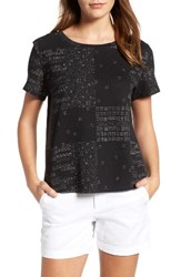 Caslonr Women's Caslon Print Crinkle Cotton Blend Top