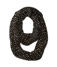 Echo Ombre Honeycomb Infinity Ring Black Scarves