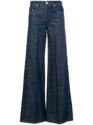 Red Valentino Flared Jeans Cotton Polyester Blue