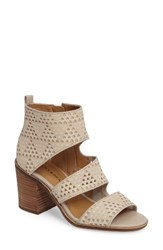 Lucky Brand Women's Kabott Block Heel Sandal Sandshell Leather