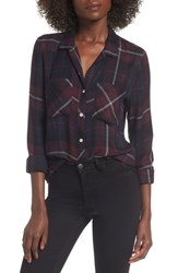 Thread And Supply Khalessi Plaid Shirt Navy Red