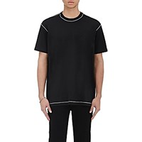 Givenchy Men's Chain Embellished T Shirt Black Blue Black Blue