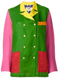 Jc De Castelbajac Vintage Colour Block Jacket Multicolour
