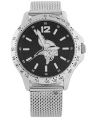 Game Time Minnesota Vikings Cage Series Watch Silver Black