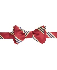 Brooks Brothers Repp Bb Bow Tie Burgundy