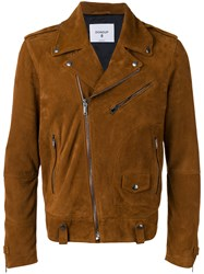 Dondup Suede Biker Jacket Brown
