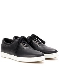 Tomas Maier Leather Sneakers Black