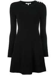 Elizabeth And James Button Detail Knitted Dress Black
