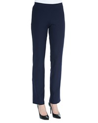 Eileen Fisher Washable Crepe Boot Cut Pants Midnight Black