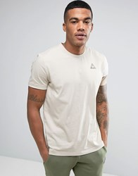 Le Coq Sportif Tricolour Sleeve T Shirt With Small Logo In Beige 1711063 Beige