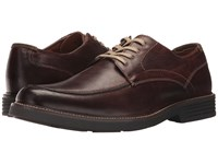 Dockers Midway Moc Toe Oxford Red Brown Waxy Distressed Burnished Full Grain Shoes