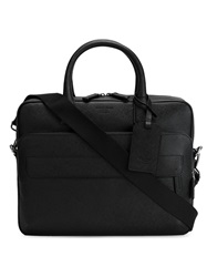 Giorgio Armani Top Zip Briefcase Black