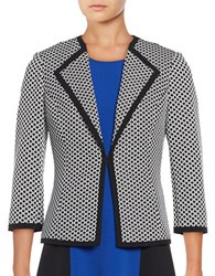 Nipon Boutique Three Quarter Sleeved Jacquard Jacket Vanilla Ice