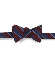 Brooks Brothers Striped Silk Bow Tie Red