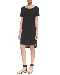 Alexander Wang Short Sleeve T Shirt Dress With Pocket Black