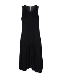 Pierantonio Gaspari Knee Length Dresses Black