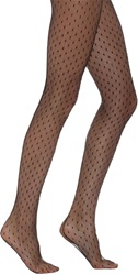 Saint Laurent Crystal Fishnet Pantyhose Black Size Small