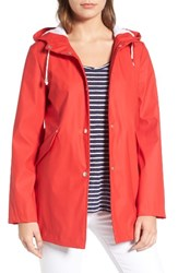 French Connection Women's Side Zip Hem Hooded Slicker
