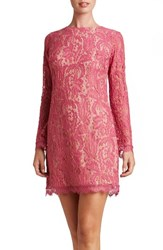 Dress The Population Women's Cambria Shift Magenta Lace