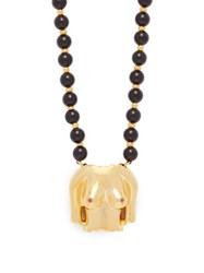 Anissa Kermiche Rubies Boobies Ruby Agate And Gold Plated Necklace Black