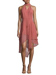 C Meo Collective Love Burns Asymmetric Choker Dress Dusty Rose
