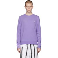 Acne Studios Purple Nalon Face Sweater
