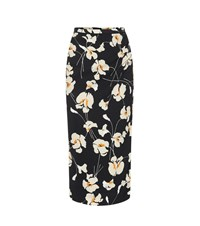 N 21 Printed Crepe Pencil Skirt Black