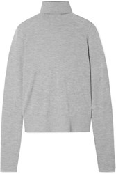 Co Cashmere Turtleneck Sweater Gray