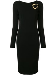Class Roberto Cavalli Fitted Midi Dress Black