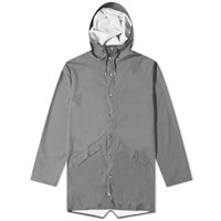 Rains Long Jacket Grey