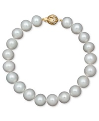 Belle De Mer Pearl Aa Cultured Freshwater Pearl Strand Bracelet 8 1 2 9 1 2Mm In 14K Gold