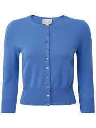 Pure Collection Alsa Cropped Cardigan Nordic Blue