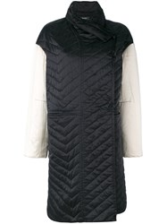 Isabel Marant Quilted Coat Women Silk Cotton Polyester 36 Black