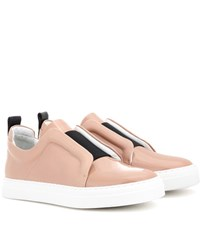 Pierre Hardy Slider Leather Sneakers Pink