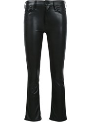 Mother 'Insider Crop' Trousers Black