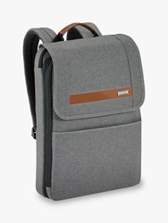 Briggs And Riley Kinzie Street 2.0 Slim Flapover Expandable Backpack Grey