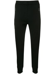 Neil Barrett Contrast Side Panel Track Trousers Black