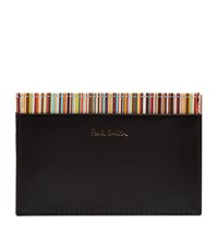 Paul Smith Internal Stripe Cardholder Unisex Black