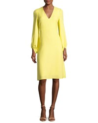 Creatures Of The Wind Strappy Back Full Sleeve A Line Dress Yellow