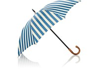 Barneys New York Striped Herringbone Stick Umbrella Blue