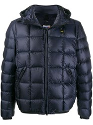Blauer Hooded Padded Jacket Blue