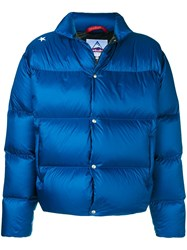 The Editor Branded Back Padded Jacket Blue