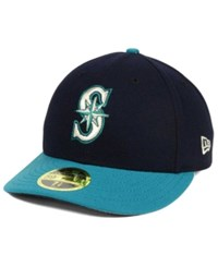 New Era Seattle Mariners Low Profile Ac Performance 59Fifty Cap Navy Teal