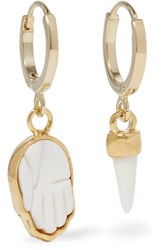 Isabel Marant Gold Tone Bone Earrings One Size