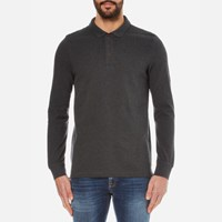 Barbour International Men's International Root Long Sleeve Polo Shirt Charcoal Grey