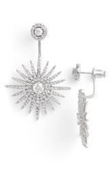 Women's Cz By Kenneth Jay Lane 'Starburst' Cubic Zirconia Drop Back Earrings