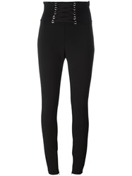 Philipp Plein Lace Up Skinny Trousers Black