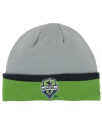 Adidas Seattle Sounders Fc Captains Cuff Knit Hat Gray Green Darkgreen