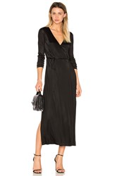 Alexander Wang Long Sleeve Wrap Dress Black